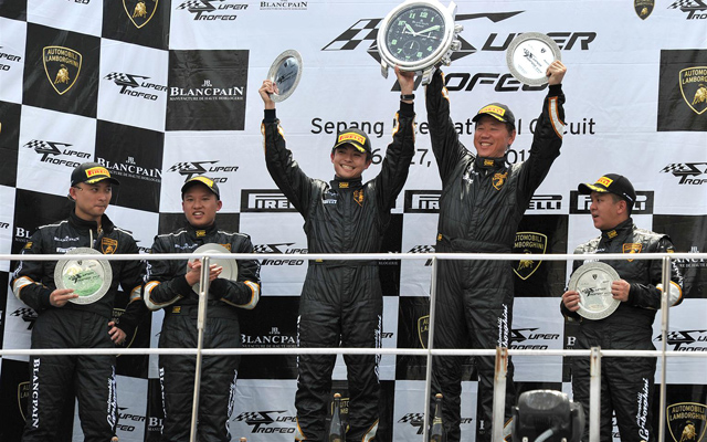4_-Celebrating-at-the-end-of-a-sensational-debut-to-the-Lamborghini-Blancpain-Super-Trofeo-Asia-Series-in-Sepang,-Malaysia