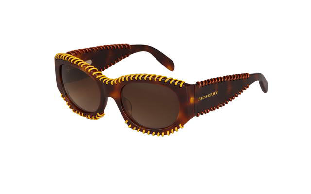 burberry whipstitch eyewear for women - tortoiseshell