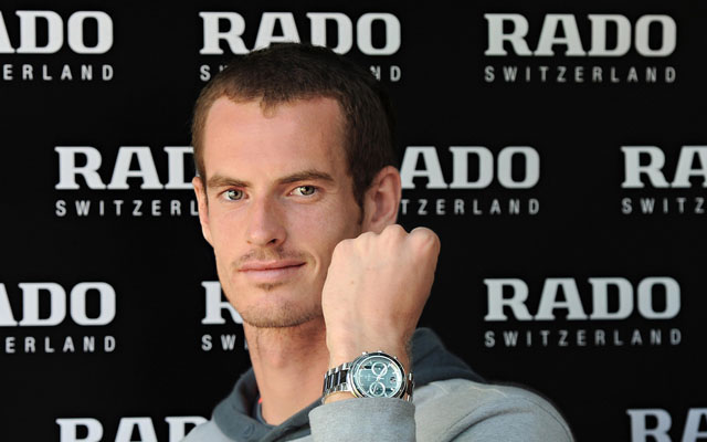 01 AndyMurray wearing Rado D-Star 200