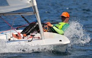Ek_Boonsawad._Laser_action_on_Day_3_of_the_dinghy_classes_racing_at_the_2012_Phuket_King's_Cup_Regatta._Photo_by_Joyce_Ravara