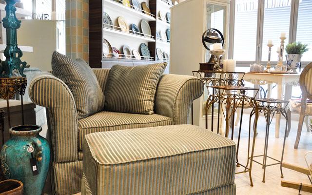 Roger & Belle - Armchair (Greenstripe) (1)