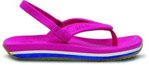 14204-6K7_SIDE_Crocs_Retro_Flip-flop_Kids_Fuchsia_Sea_Blue