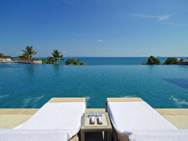 Phuket pool lounge chairs