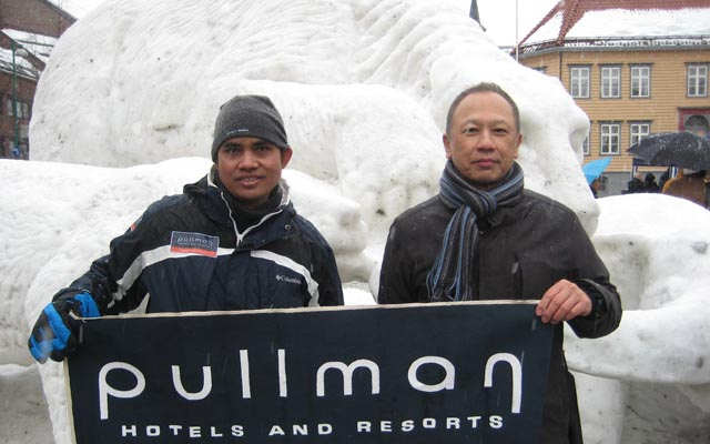 Pullman Bangkok King Power joined ice carving in Norway2