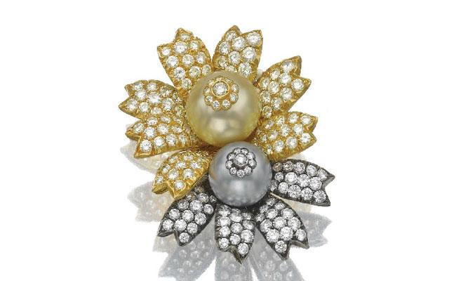 diamond pearl ear clips sabbadini
