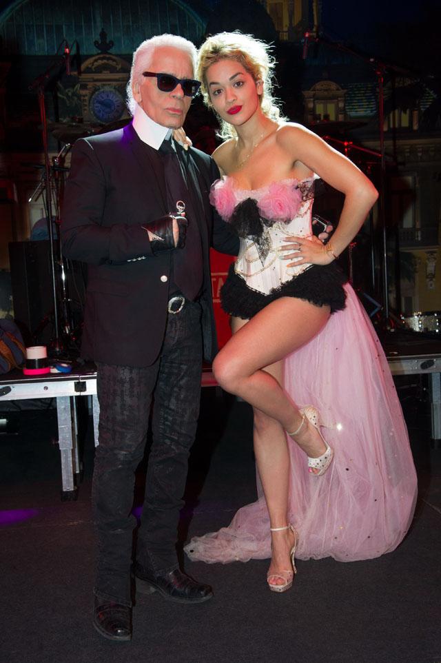 Karl Lagerfeld, Rita Ora Bal de la Rose du Rocher SBM 1863-2013