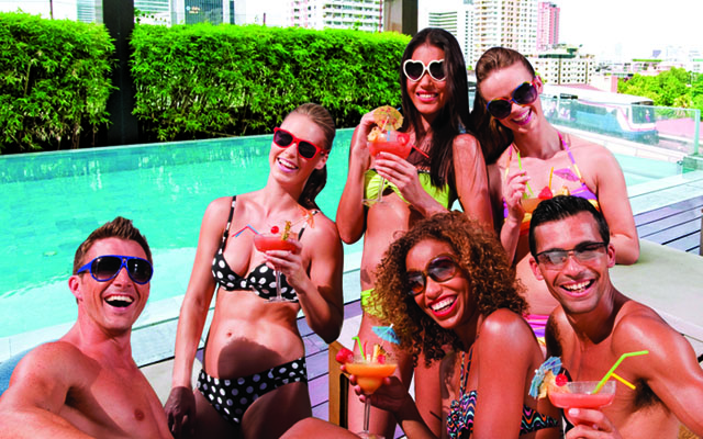 Let's Bikini roof top pool party on 30th June'13