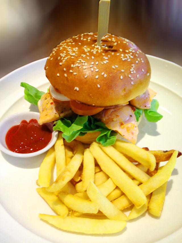 Salmon Steak Burger(1)