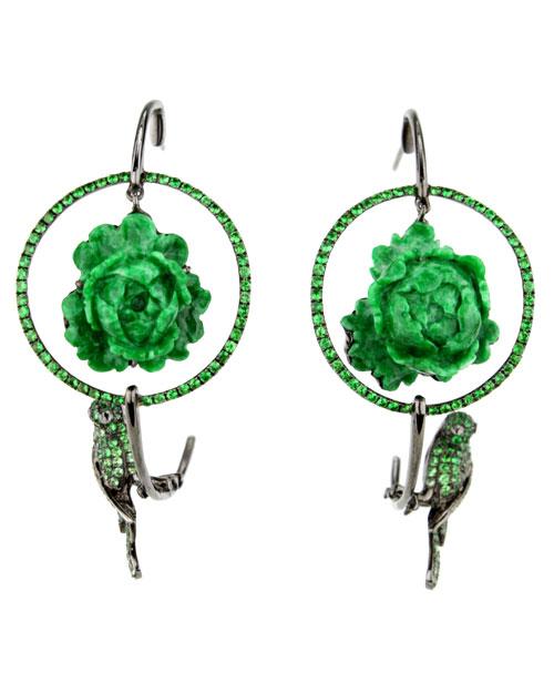 Wendy-Yu-Jade-and-Brown-Diamond-Flower-Earring-10857045