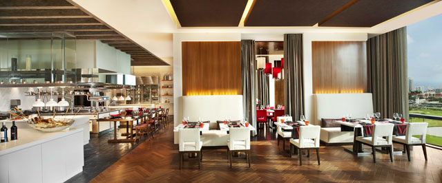 The St. Regis Bangkok_VIU_Dining Area with open kitchen
