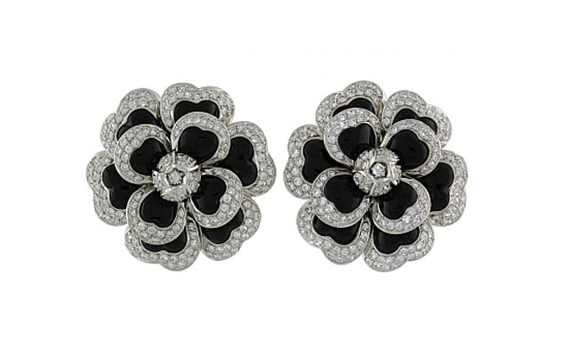 Chanel-Diamond-and-Black-Onyx-Camellia-Earrings-in-18K