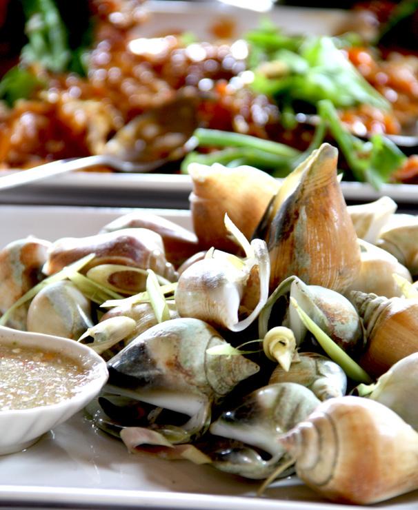 หอยชักตีน อาหารประจำถิ่นของกระบี่