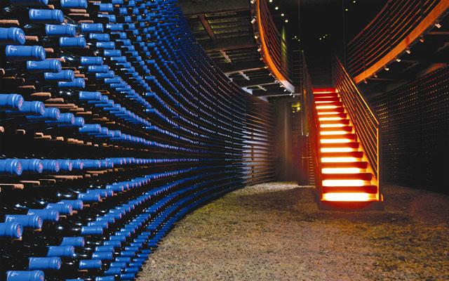 Casa Lapostolles Clos Apalta wine cellar (vinoteca)