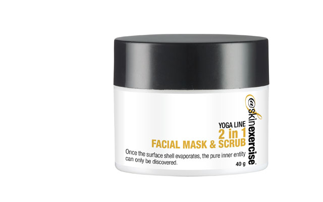 @skinexercise 2in1 facial mask and scrub
