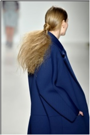 Textured and Teased Ponytail