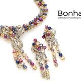 Bonhams Multicolored gemstone