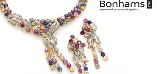 Bonhams Multicolored gemstone