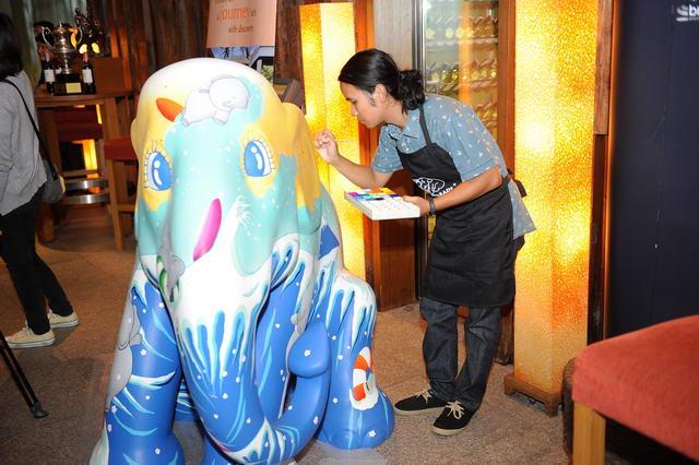Artist Painting Elephant Parade