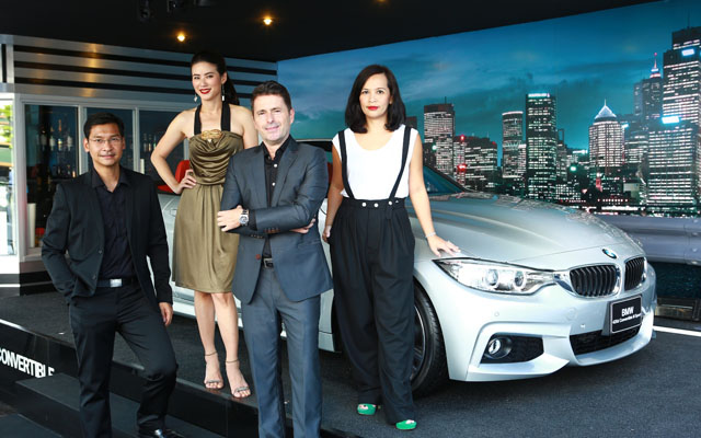 BMW Group Thailand executives and Sirimon Na Nagara (far right)
