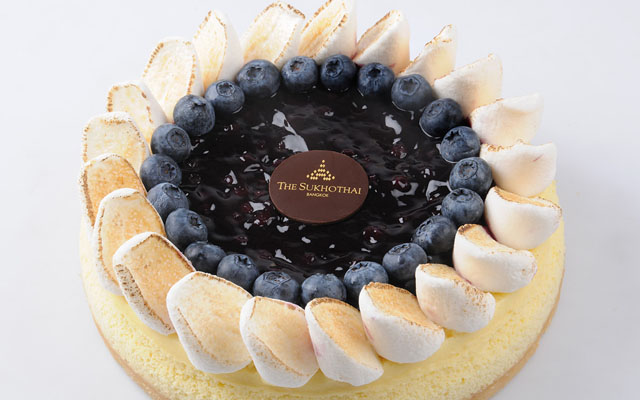 Blueberry and Marshmallow Cheese Cake
