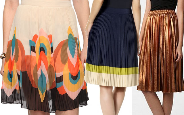 trendy pleated skirts for spring