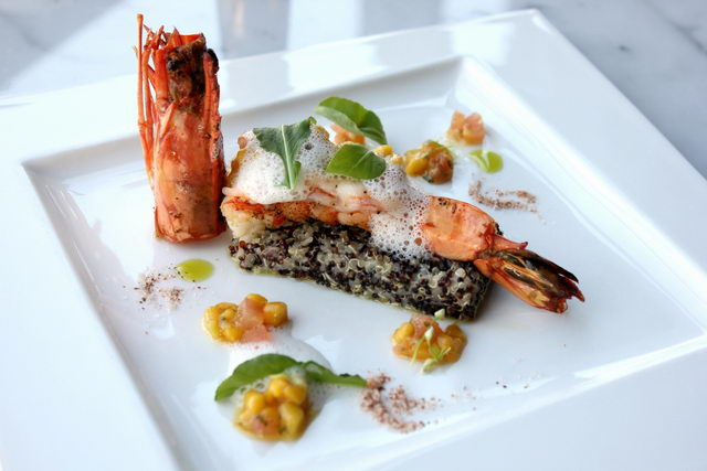 River Prawn and mango