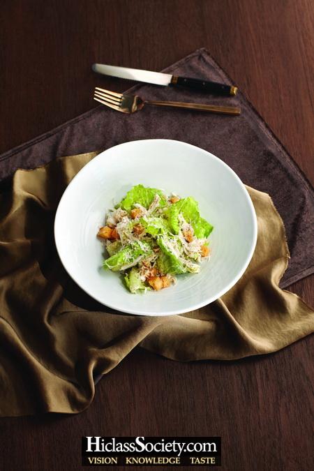 Caesar Salad with Crab Meat
