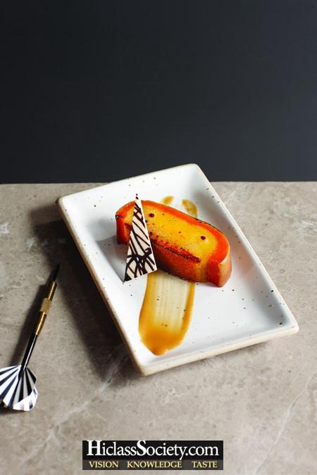 Caramelized Palm Sugar Custard in Butternut Squash