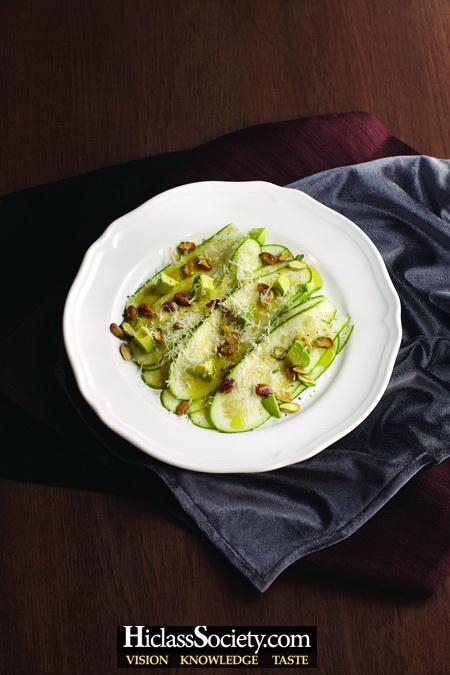 Chilled Zucchini Carpaccio
