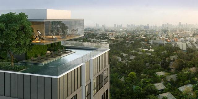 ห้องออกกำลังกายและสระว่ายน้ำ (Panoramic Exercise room and Infinity-Edge Pool