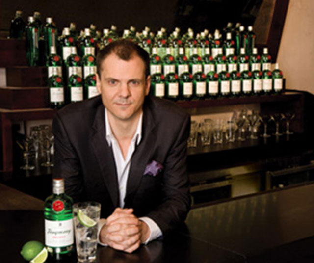 ANGUS WINCHESTER, TANQUERAY GIN MASTER Angus Winchester's contacts and knowledge have been built up over nearly a quarter of a century of engagement with the best bars and bartenders in the world.  Angus's current client roster is dominated by the House Of Tanqueray for whom he acts as Global Ambassador (and Gin Genius) but he is also a Vodka Professor, the founder of The Rum Club in the UK and Australia, one of only 120 Tequila Demi Gods worldwide, a Malt Advocate, a Traveling Mixologist and a Mixfit.  Angus' oddly phenomenal grasp of the heart and the heritage of spirits and cocktails are respected by bartending gurus and media around the world.  Renowned for his expertise in beverage programming, and his knowledge of cocktails past and present, Angus  creates seasonal new drinks, promotes innovative serves based on global intel, and revives long-lost classic creations for today's demanding modern bartender and intrigued and interested civilians alike. And he shakes a mean cocktail when allowed to