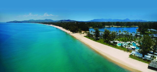 Aerial View - Beachfront Location - Outrigger Laguna Phuket Beach Resort