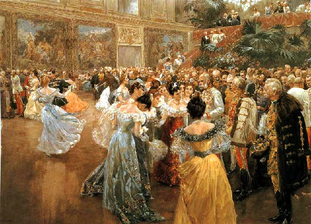 Franz Joseph with high society ladies