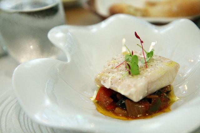 The Black cod fish with 'Samfaina'