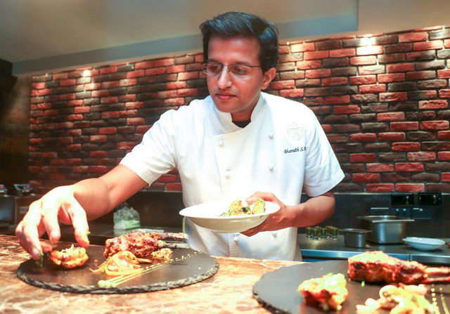 Chef Bharath Bhat, who brings with him a wealth of experience from 5-star hotels and resorts such as Grosvenor House Dubai, Armani hotels, St. Regis, Le Meridien and Alila resorts.