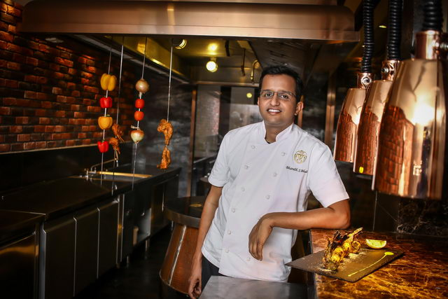 Chef Bharath Bhat in Punjab Grill BKK Kitchen