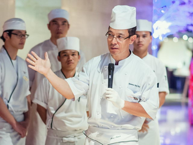 Chef Norio Nomoto and team