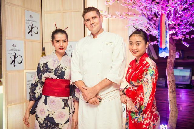 Executive Chef Michael Hogan and Tsu ladies