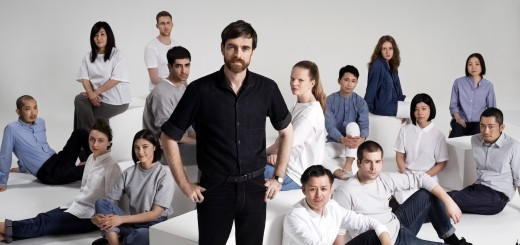 Christophe Lemaire with the UNIQLO Paris R&D Center team