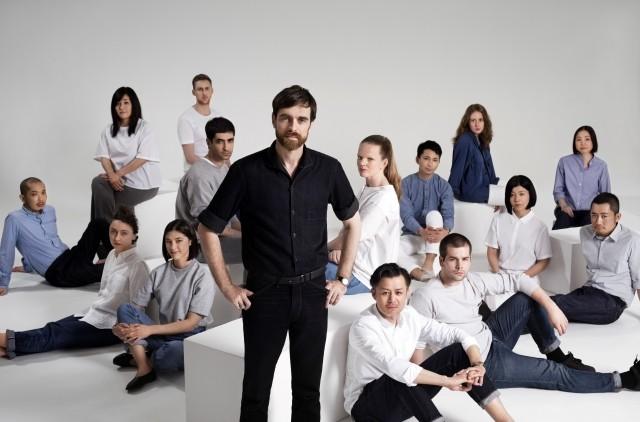 Christophe Lemaire with the UNIQLO Paris R&D Center team~1