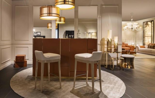FF Boston bar cabinet and Bristol bar stools