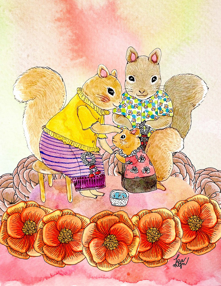 Songkran-Squirrel