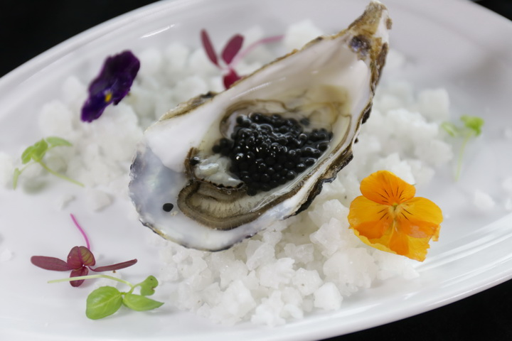 Course 1 - Fine de Claire Oyster and Baeri Royal caviar