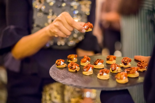 Guests Enjoyed Pre-Dinner Canapes