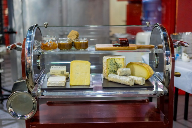 Guests Enjoyed a Selection of Cheese After Dinner